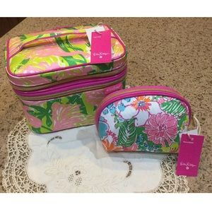 Lily Pulitzer Train Case & Cosmetic Bag For Target